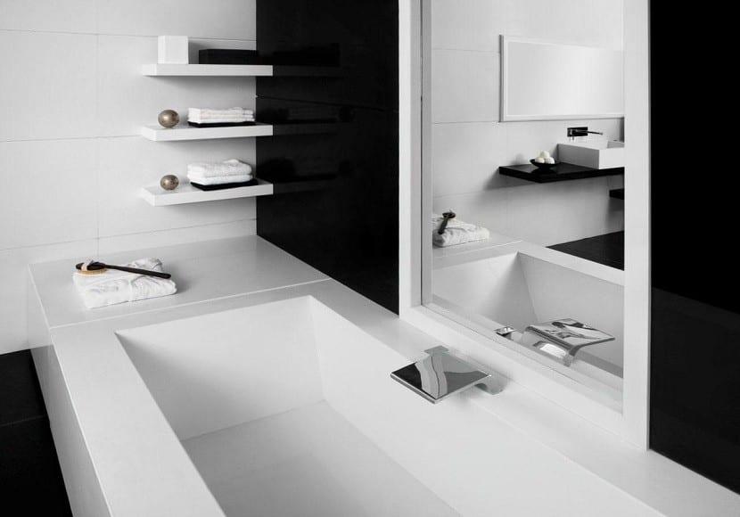 El color negro en el cuarto de ba o - Bano de color negro ...