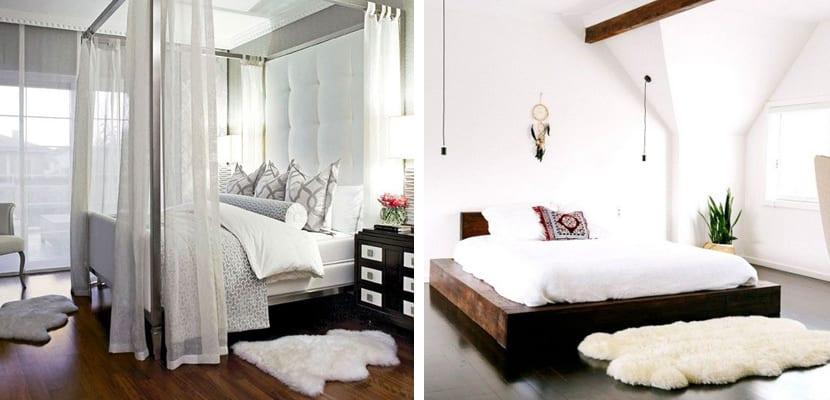 Dormitorio relajante con alfombras