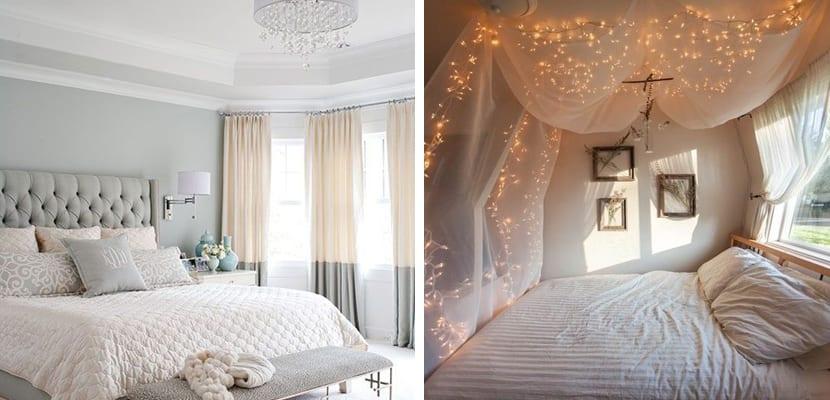 Dormitorio relajante con luz tenue