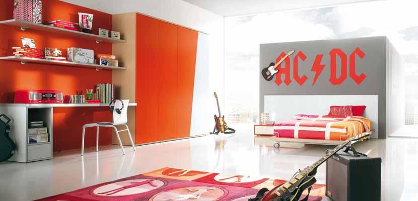 Dormitorios juveniles en naranja