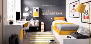 Dormitorios juveniles en negro