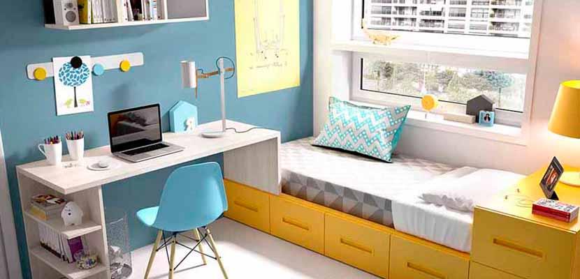 Dormitorios juveniles funcionales