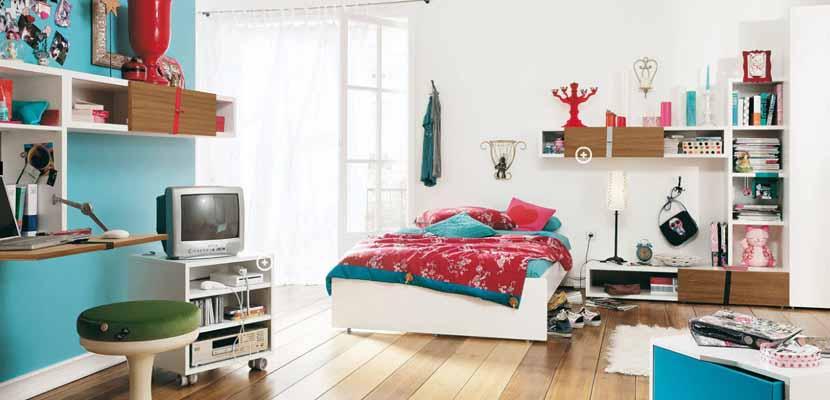 Dormitorios juveniles luminosos
