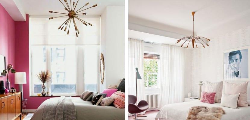 Dormitorios vintage con lámparas