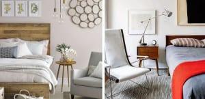 Dormitorios vintage con muebles antiguos