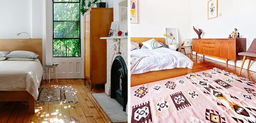 Dormitorios vintage con mezclas