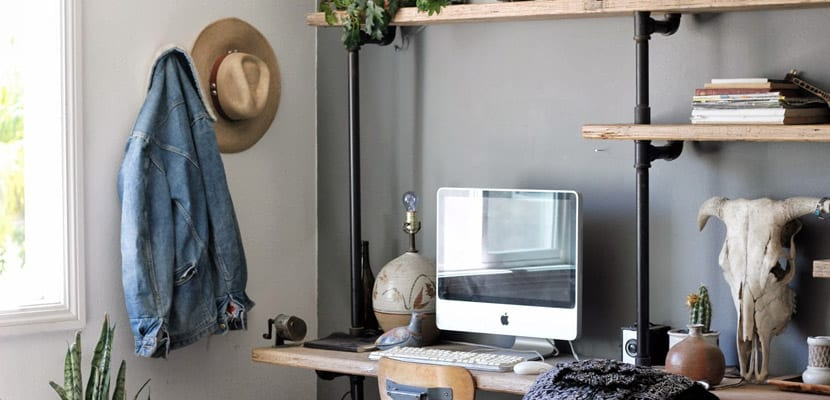 Estanterías en estilo industrial para la oficina