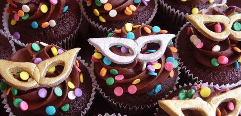 Fiesta de Carnaval cupcakes