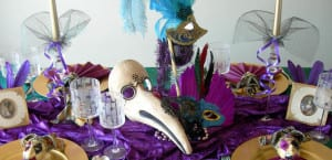 Mesa para fiesta de Carnaval