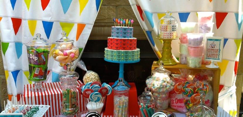 Mesa dulce en fiesta de Carnaval