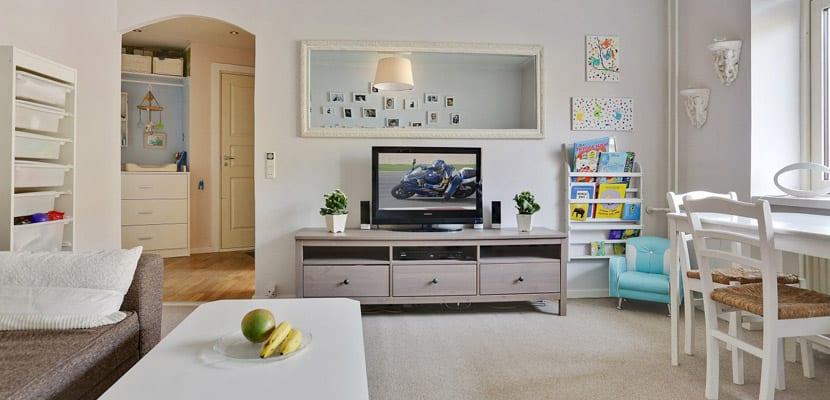 Tonos claros en hogares pequeños