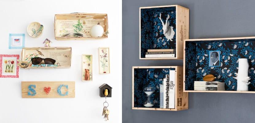 Ideas de almacenaje con cajas de madera