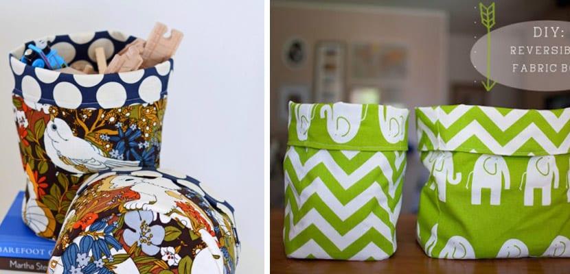Ideas de almacenaje con cestas de tela