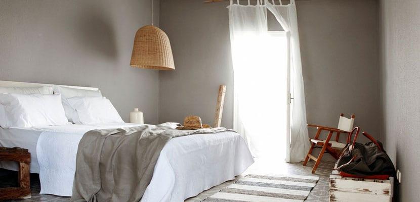 Lámapras de mimbre para el dormitorio