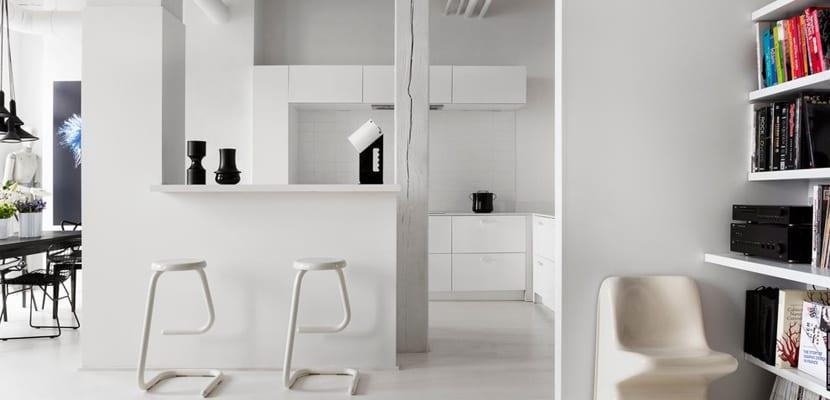 cocina de loft de diseño