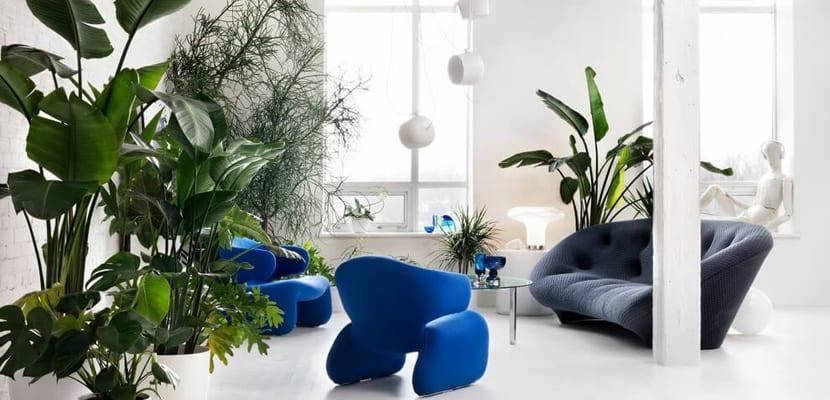 Salón de loft de diseño