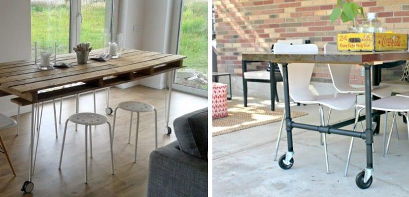 Mesas DIY de estilo industrial
