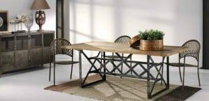 Mesas en estilo industrial