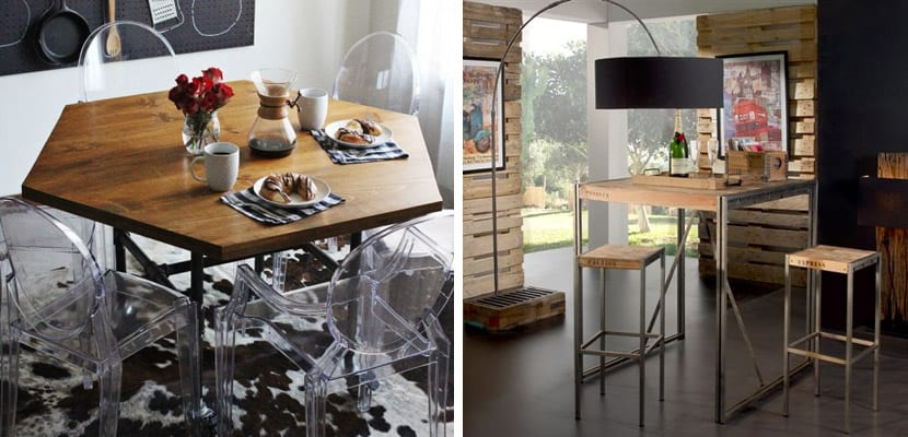 Mesas pequeñas en estilo industrial