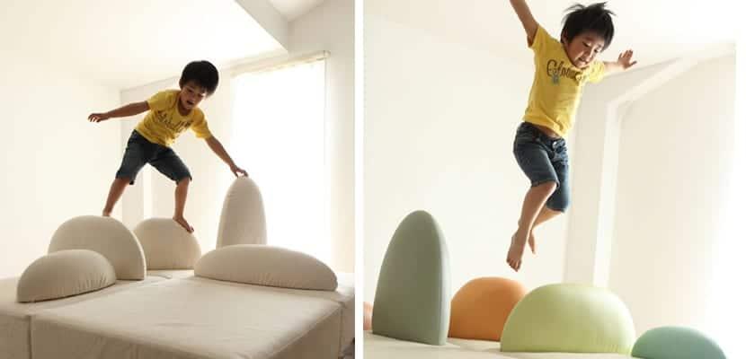 Mueble infantil ecológico, sofás
