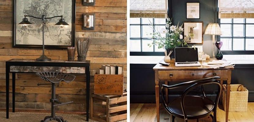 Oficinas en casa de estilo r stico for Muebles de estilo vintage