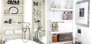 Organizar el baño con estanterías
