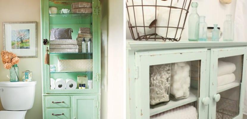 Organizar el baño con muebles vintage