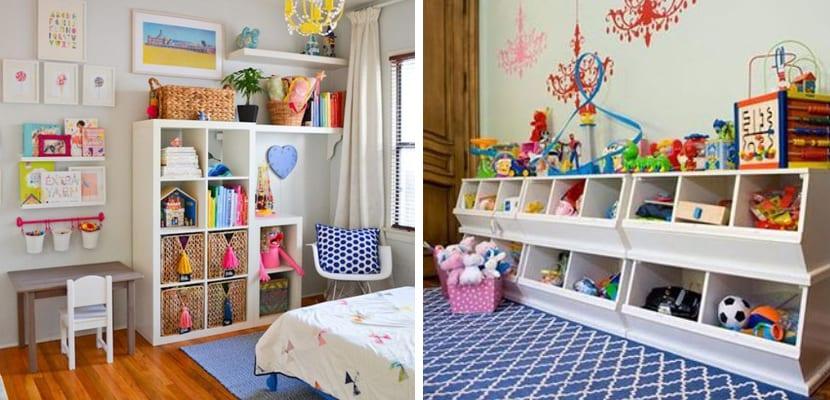 Muebles para organizar juguetes