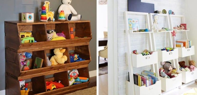 Ideas para organizar los juguetes for Ideas muebles para poco espacio