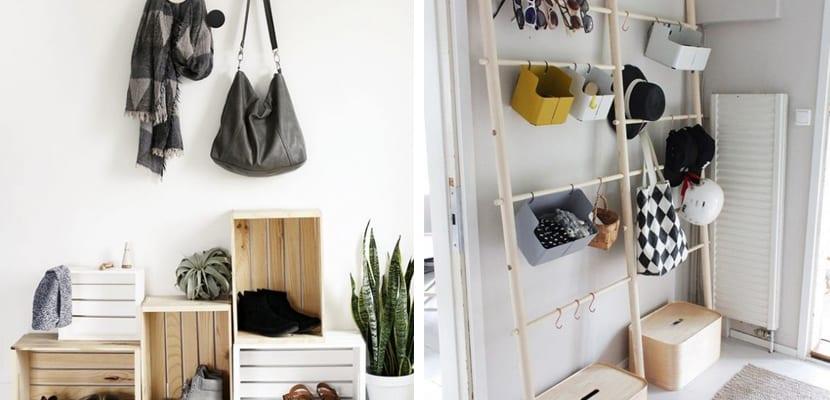 Organizar la entrada con mueble DIY