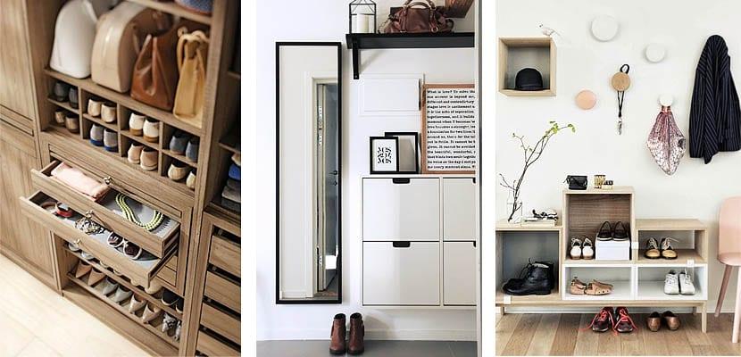 Diferentes ideas para organizar los zapatos