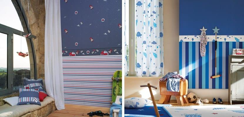 Papeles pintados Esprit para el cuarto infantil