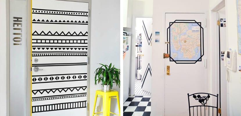 Puertas DIY con washi tape