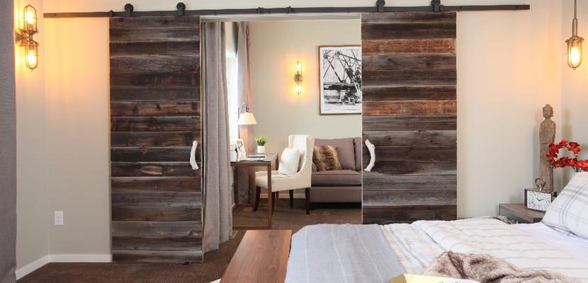 Puertas de granero correderas para el dormitorio
