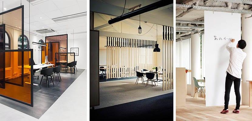 Separar espacios en la oficina