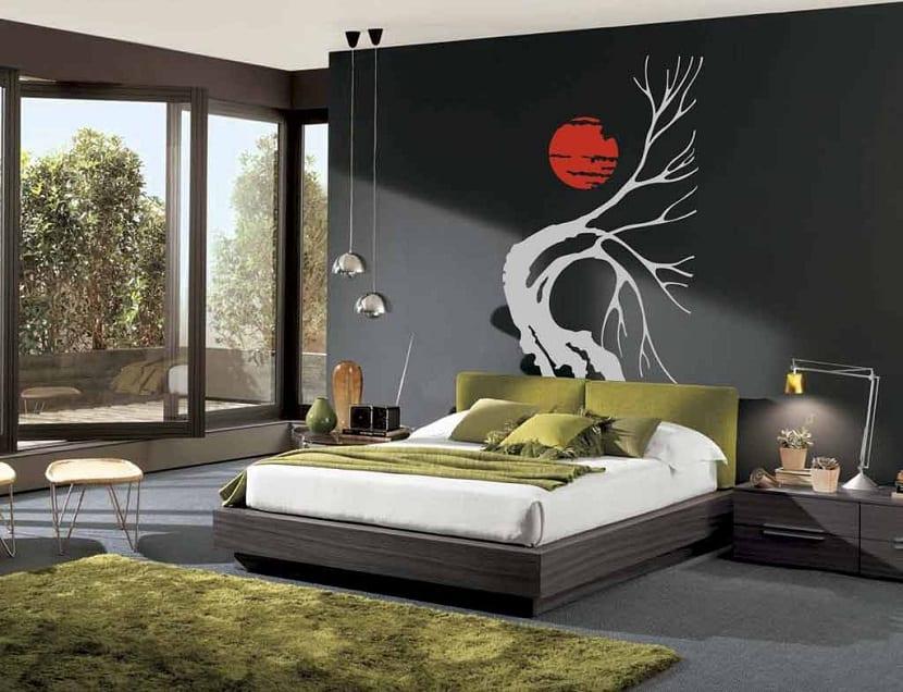 C mo usar los vinilos para decorar una habitaci n for Vinilo para dormitorio adultos