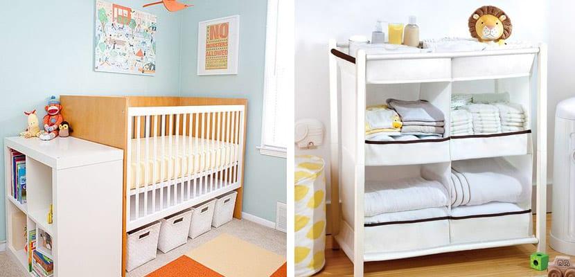 Aprovechar el almacenaje en la habitación del bebé