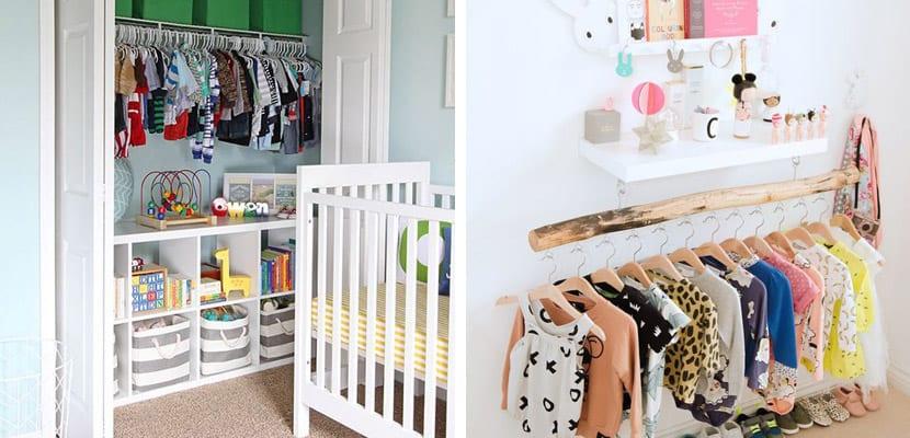 El armario en la habitación del bebé
