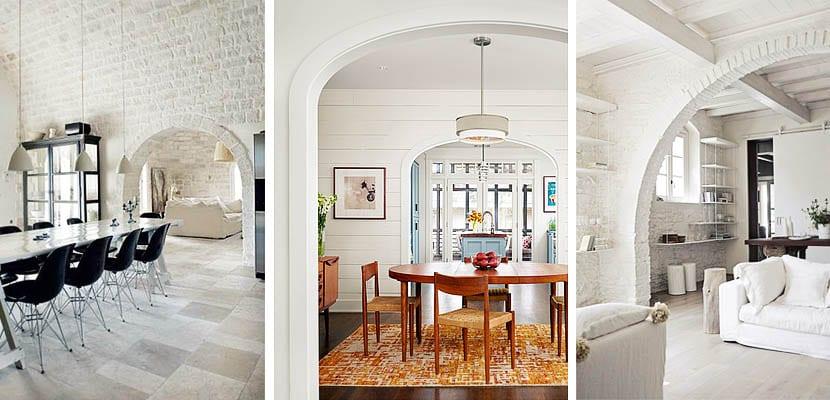Arcos para separar ambientes prescinde de puertas for Dividir cocina comedor
