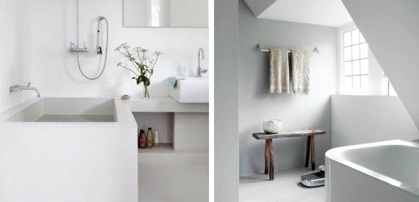 Baños escandinavos para un espacio sereno
