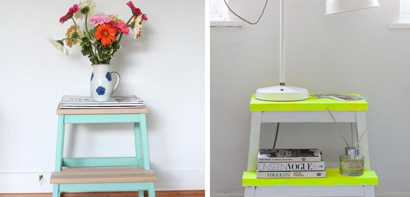 El taburete bekvam de ikea mueble auxiliar ideal - Ikea mesas auxiliares ...