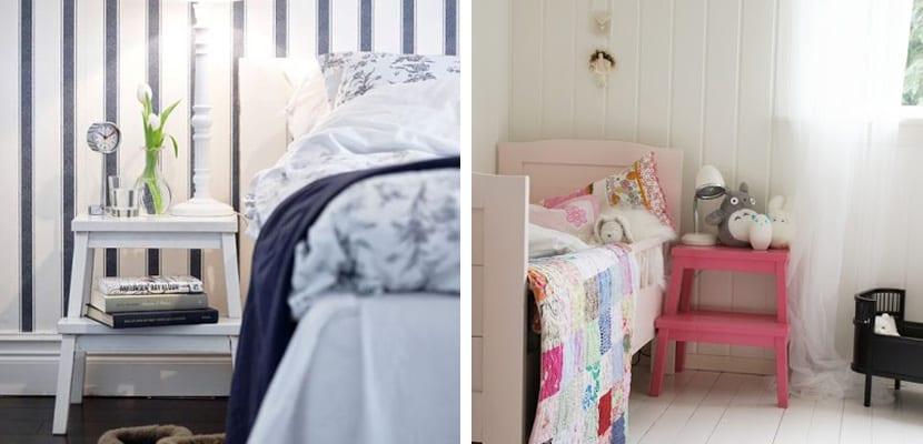 Bekvam de Ikea en el dormitorio