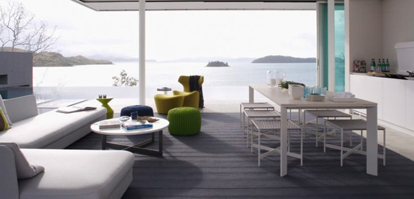 Casa minimalista con salón