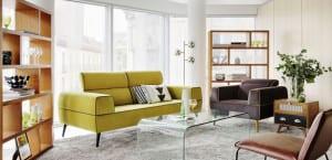Sofá amarillo vintage