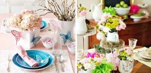 Decoración en mesas de primavera