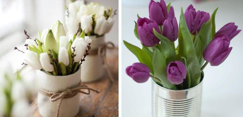 Decorar con tulipanes ideas DIY