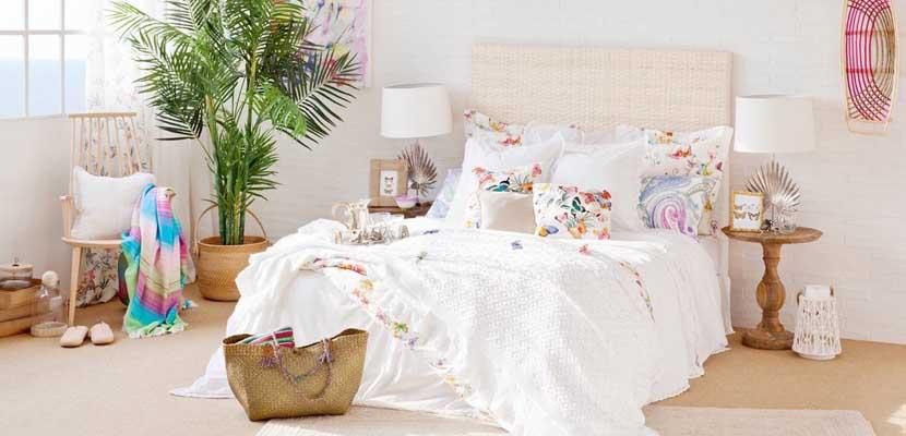 Decorar el hogar con textiles primaverales