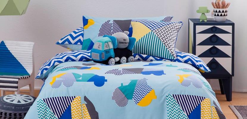 Dormitorios infantiles con camiones de Kas Australia