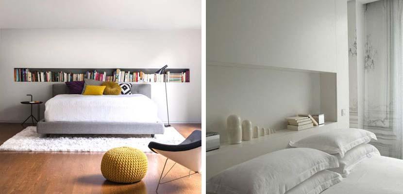 Estanterías nicho para el dormitorio