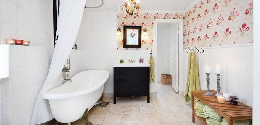 Baño estilo cottage